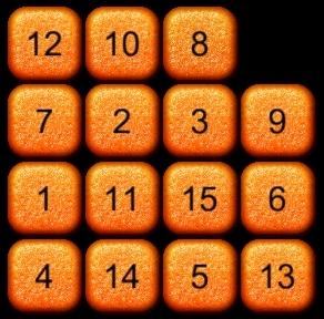 15パズルのある状態A